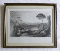 "zz Victorian antique engraving - ""The Golden Bough"" (J. M. W. Turner), in later frame (SOLD)"